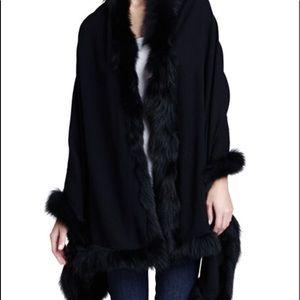 Authentic Valentino Fox Fur Cashmere Shaw